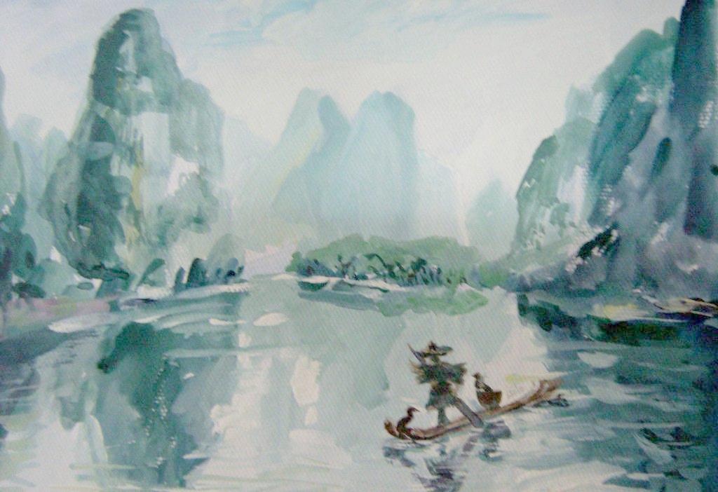水彩风景画的作画步骤解析